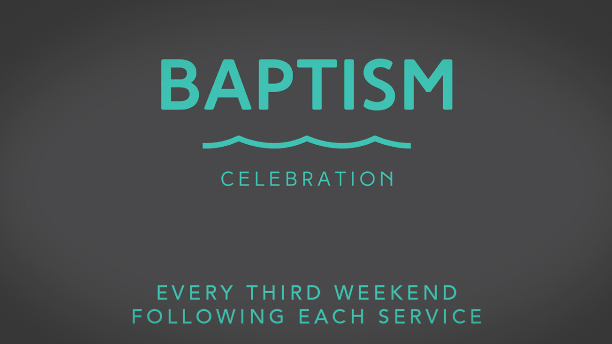 BAPTISM APRIL 20 AND 21