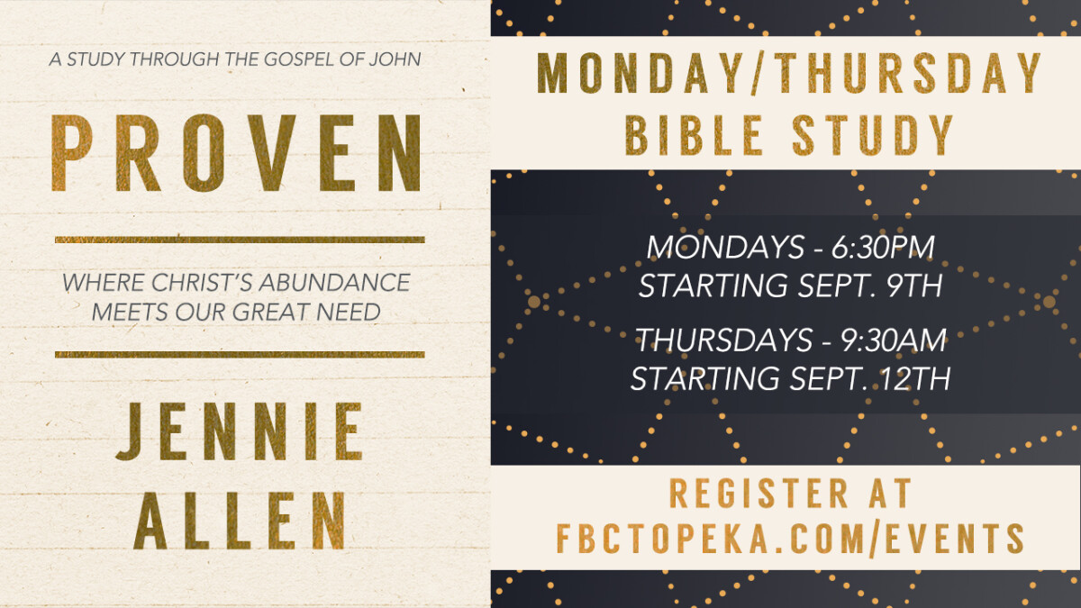 WOMEN'S BIBLE STUDY, MON. EVENING: PROVEN
