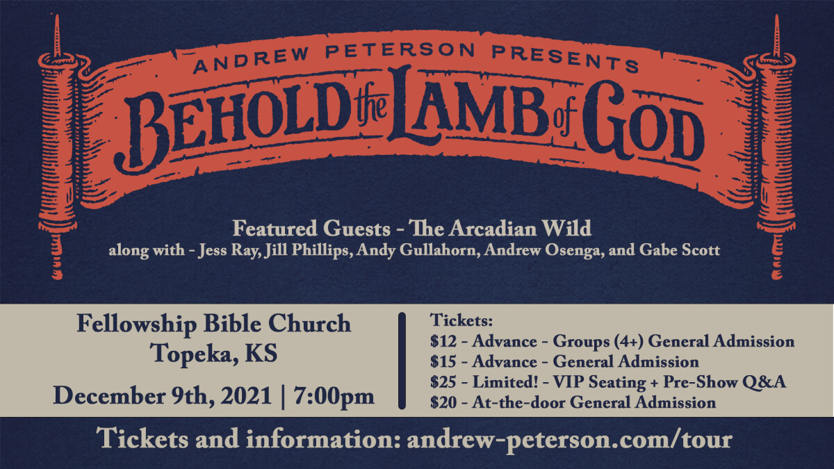 Worship   Andrew Peterson Presents: Behold the Lamb of God Tour 2021